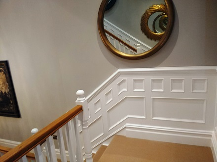 panelling made to same height as handrail by panelmaster made in Britain