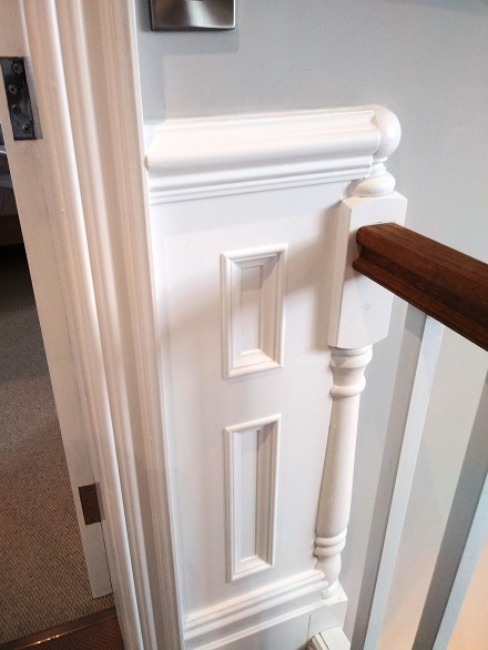 end of top rail to match in with spindles by panelmaster