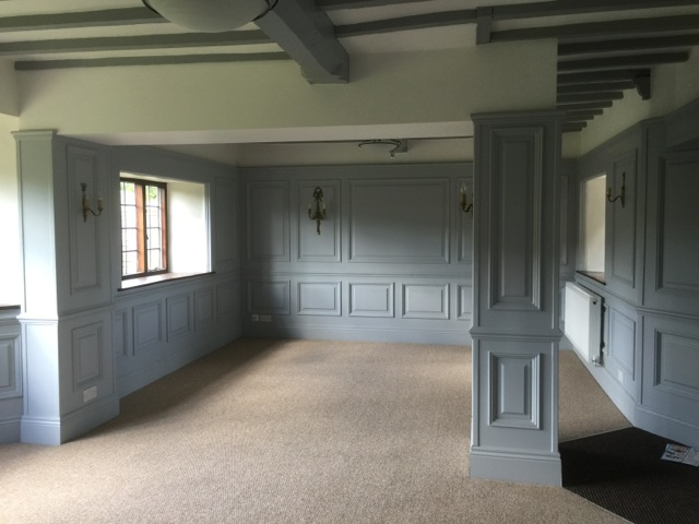 Beaded and georgian panelling