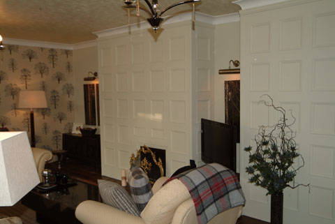 after wall panelling makeover