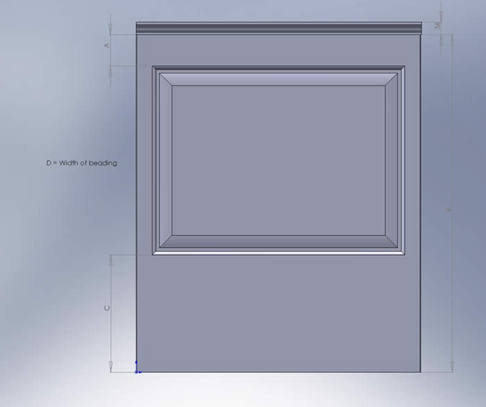 georgian wall panelling drawing showing profile by wall panelling experts