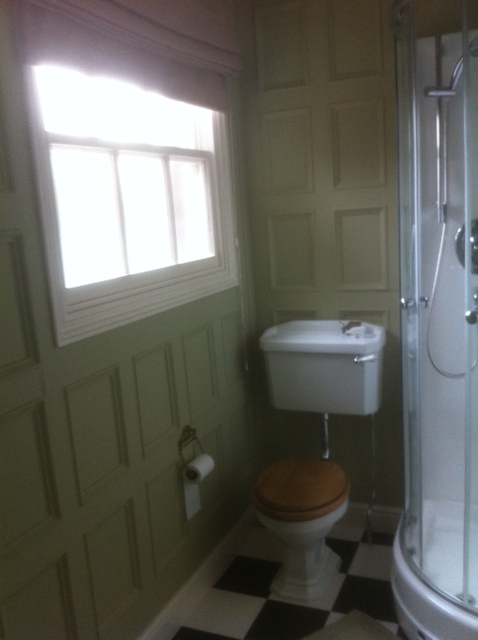 bathroom beaded panelling