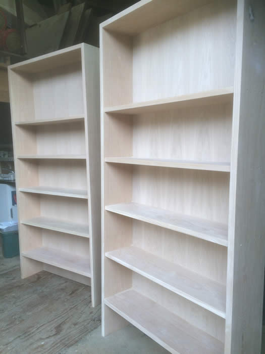 lovingly hand made oak bookcases by the wall panelling experts