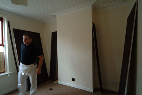before wall panelling