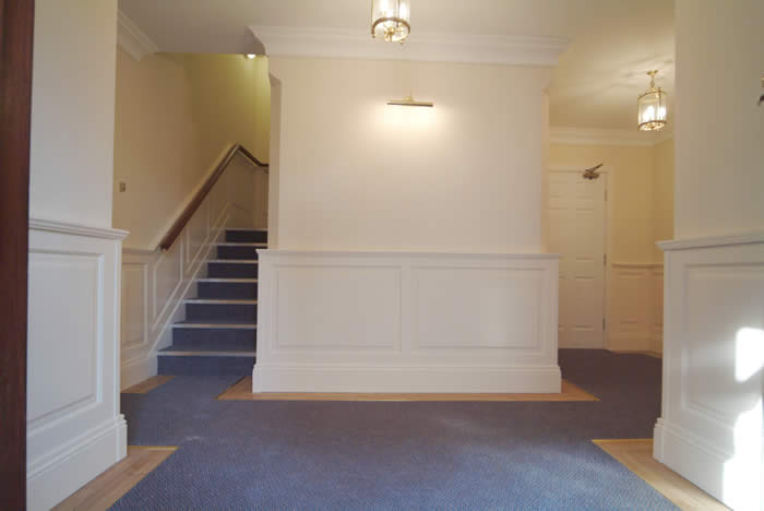 entrance hall wall panelling southport premier apartments made in the uk by wall panelling experts