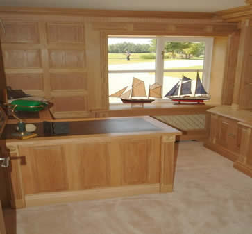 made in the uk oak panelling for studies