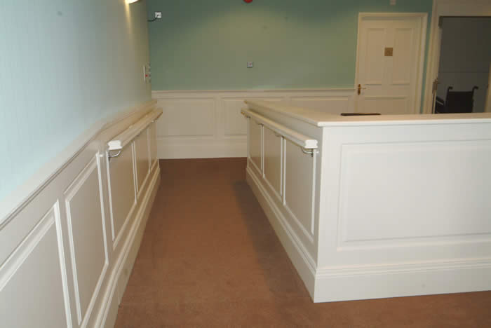 entrance hall wall panelling rossendale hospice made in the uk by wall panelling experts