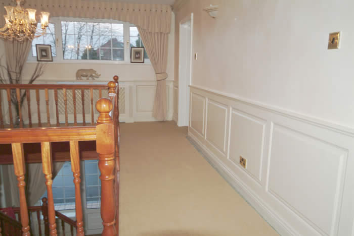 entrance hall wall panelling formby  premier footballers home made in the uk by wall panelling exper