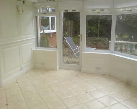 conservatory wall panelling, cheshire