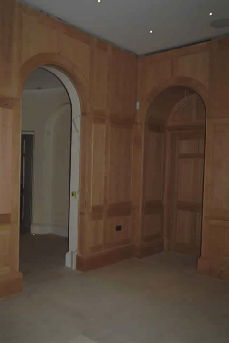 archways by wall panels  oak archways forest de bere hampshire made by the  wall panelling experts