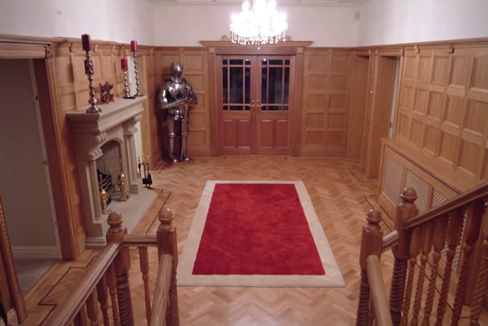 manchester united footballers entrance hall by wall panelling ltd