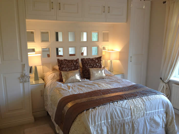 feature mirrored wall panelling for bedrooms