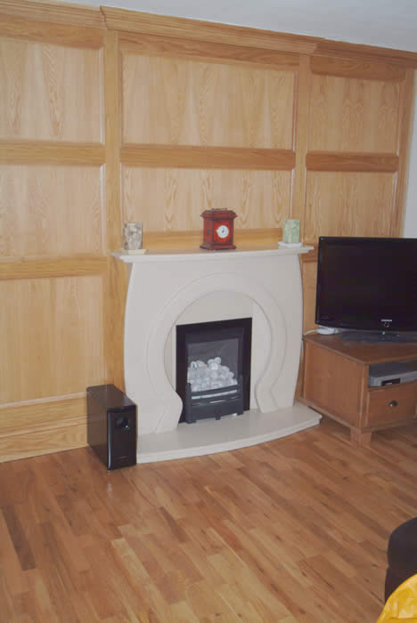 oak wlal panelling for lounge by wall panelling experts rossendale lancashire