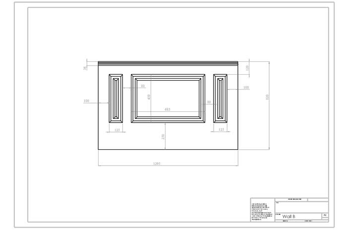 wall panelling designer drawings