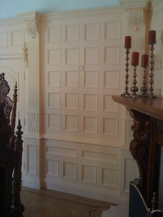 beaded wall panelling feature wall