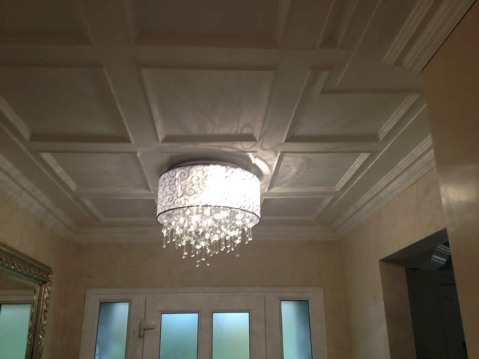 panelled ceiling makeover