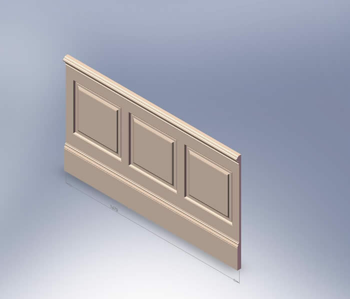 skirting with wall panelling