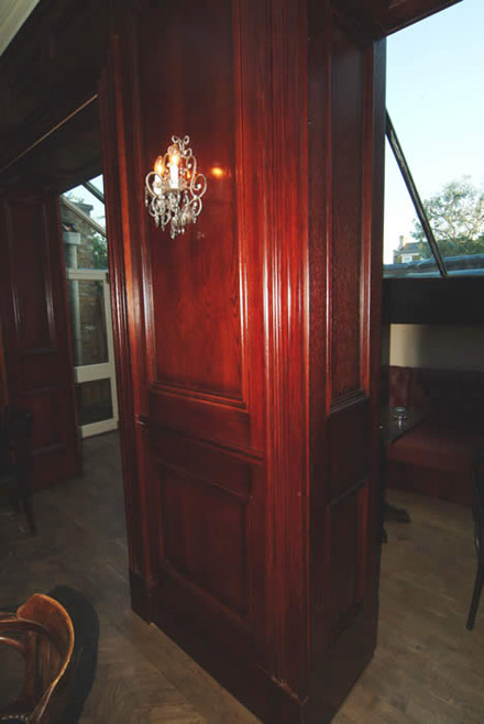 timber wall panelling hand and flower pub kings road london made in the uk by wall panelling experts