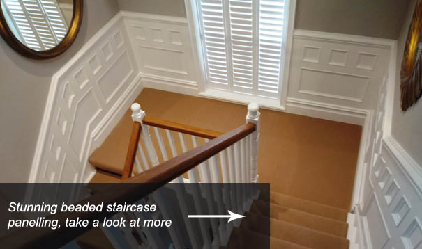 Staircase Beaded Wall Panelling Designs