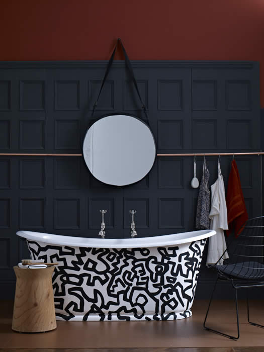 bathroom wall panelling as featured in house and garden in March 2012