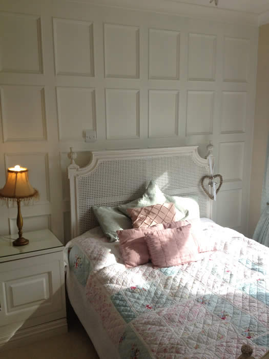beaded bedroom wall panelling acorn cottage tenby
