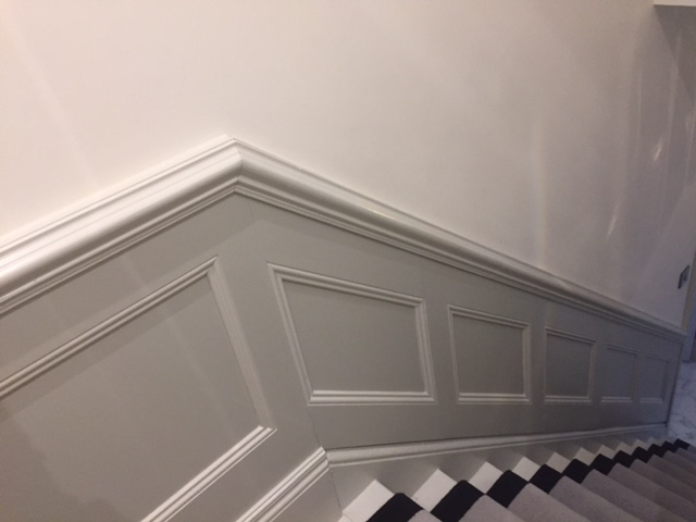 stairs wall panelling