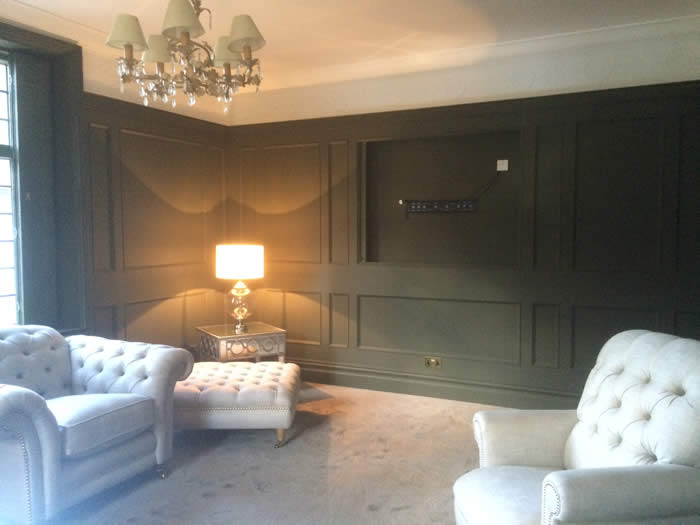 full height wall panelling