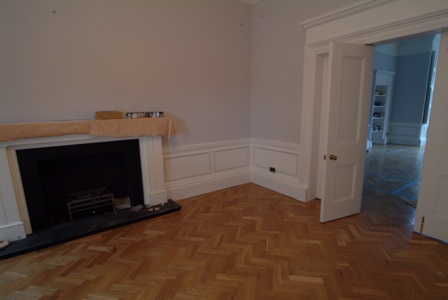 colin and justins home glasgow  by wall panelling experts