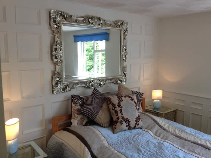 bedroom wall panelling  designs south wales the secret garden cottage