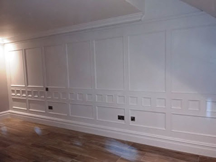 feature wall panelling  for bedroom made in britain for home in cheshire
