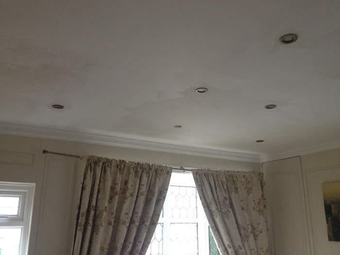 unsightly ceiling..