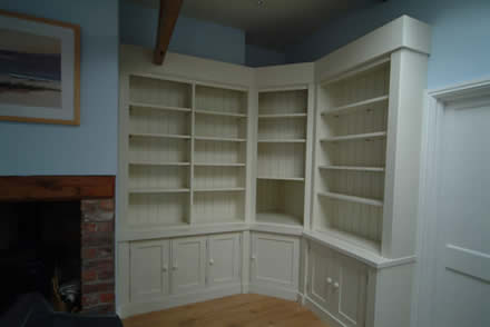 Bespoke bookcases from wall panelling alderley edge cheshire