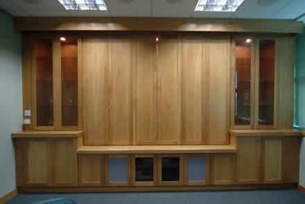 boardroom media surround by wall panelling experts brooksons cheshire panelling for boardrooms made in the uk by wall panelling experts