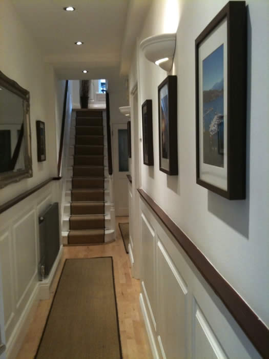 after entrance hall wall panelling makeover