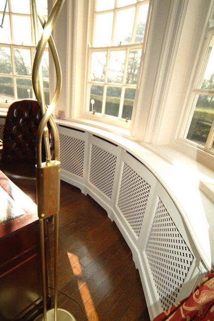 tailor made radiator covers hand made by wall panelling