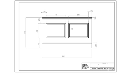 Dimensions for Wall B