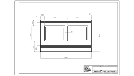 Dimensions for Wall D