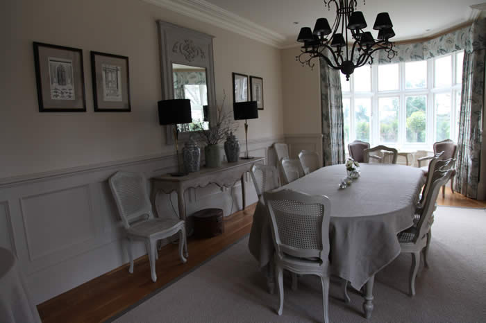 beaded dining room panelling