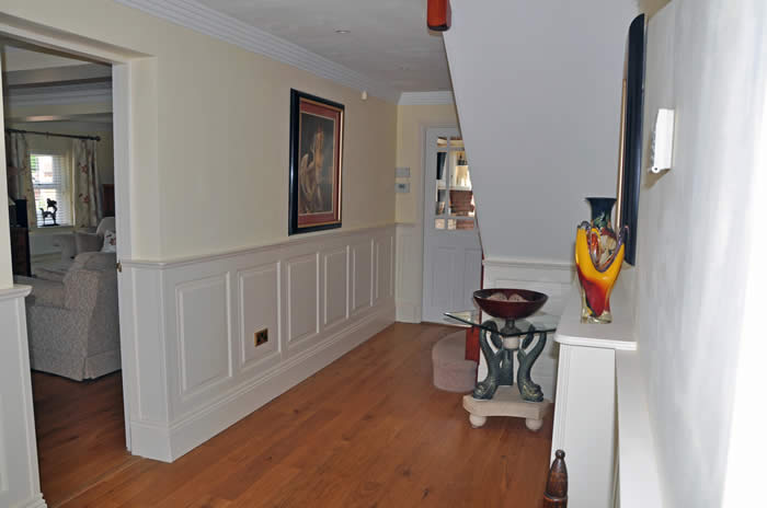 entrance hall wall panelling by the  wall panelling experts