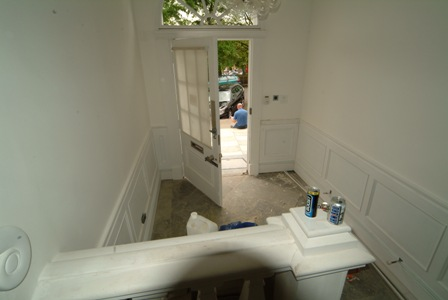 entrnace hall wall panelling for colin and justin's main residence in glasgow by wall panelling ltd