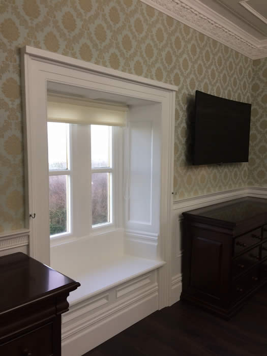 panelled window seat