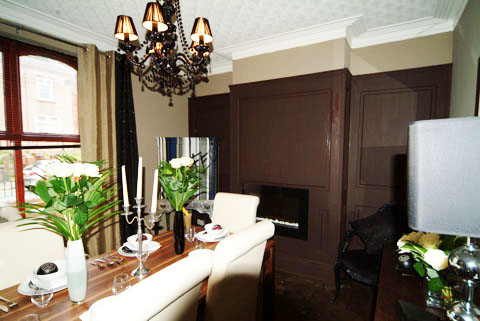 feature wall panelling dining room