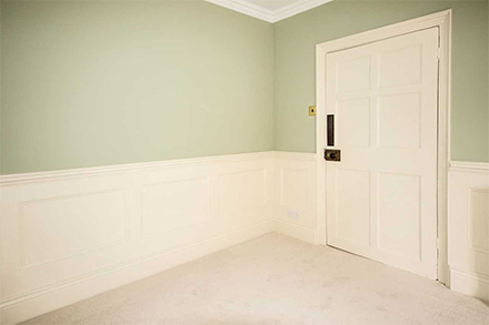 panelling next to door