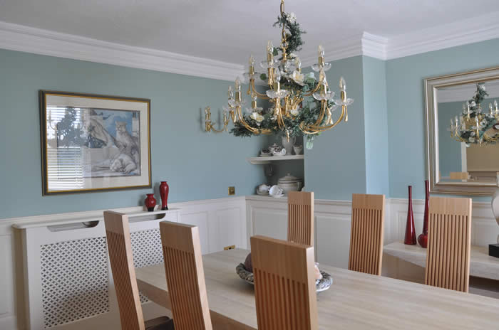 dining room wall panelling by the wall panelling experts