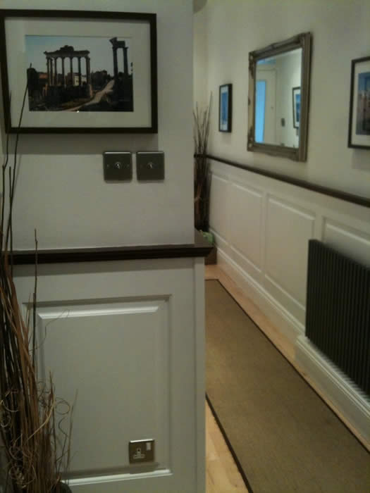 entrance hall wall panelling almorah road london bonoparte made in the uk