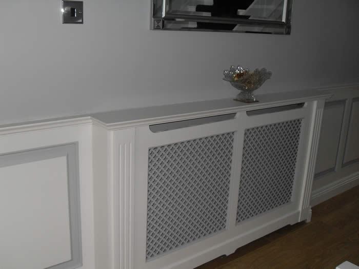 wall panelling and radiator cabinet