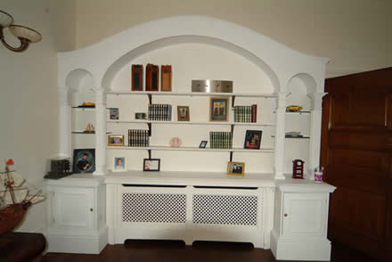 tailor made bookcase by wall panelling experts cheshire