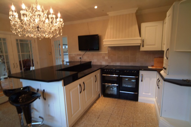 kitchens by wall panelling bespoke kitchen at  acorn cottage tenby south wales holiday cottage with sykes cottages