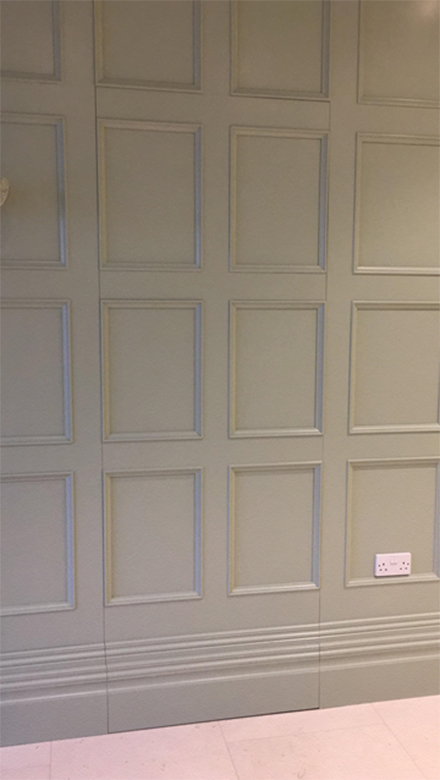 Secret Panels Within Wall Panelling