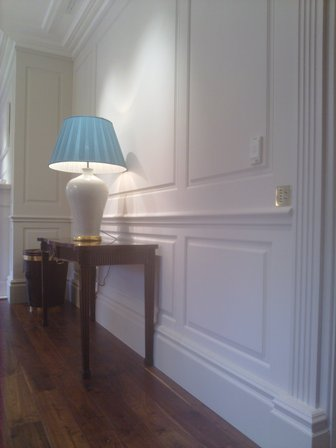 entrance hall wall panelling bellefield hall wentworth british made